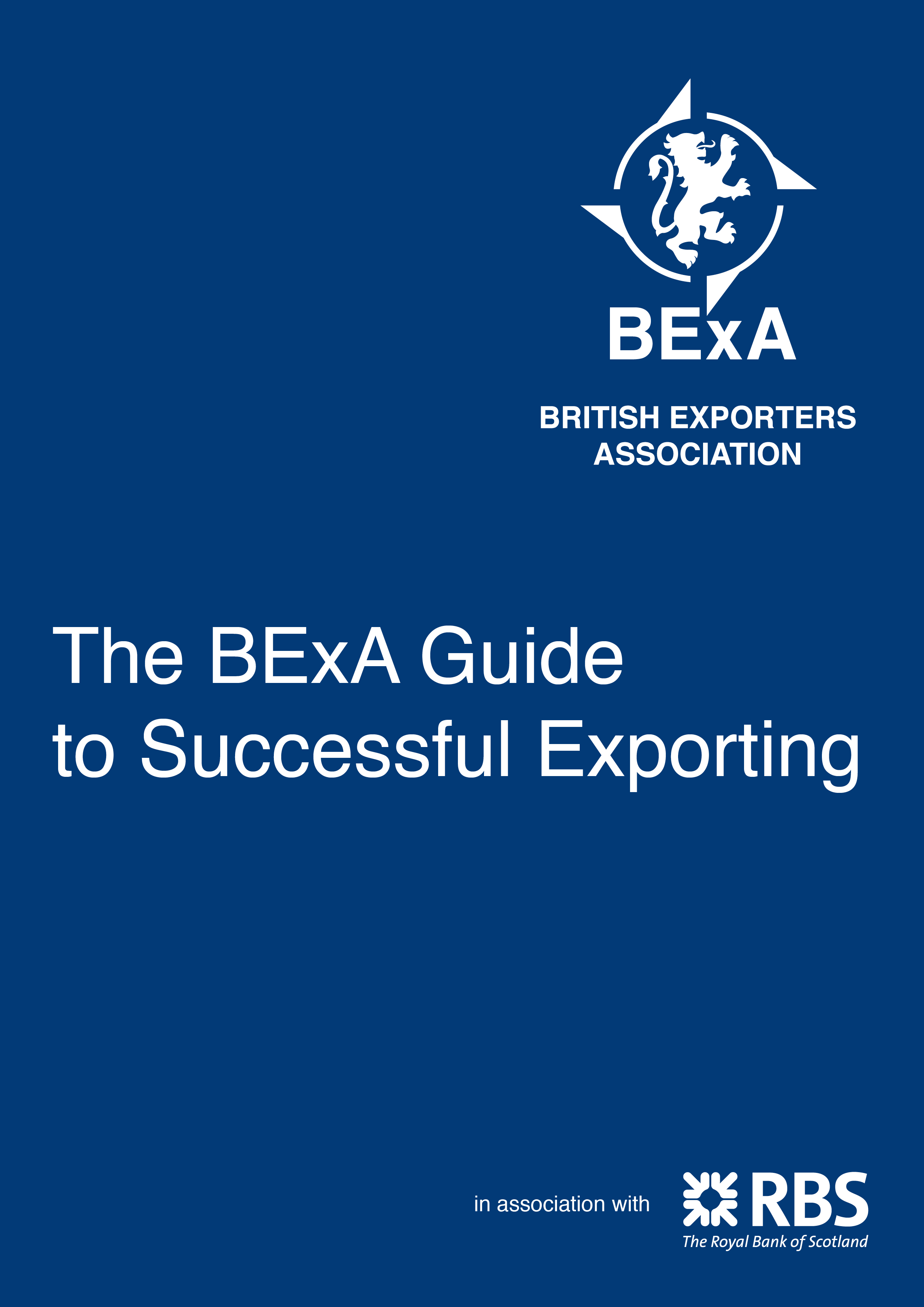 BExA Guide to Successful Exporting front cover